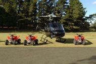 Helicopter ride and combined safari
